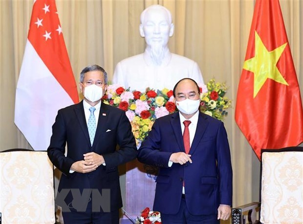 President hosts Singaporean Foreign Minister hinh anh 1