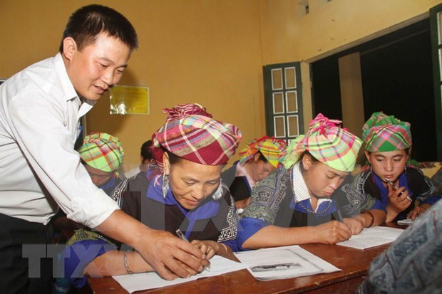 Over 300,000 people escape illiteracy in eight years hinh anh 1