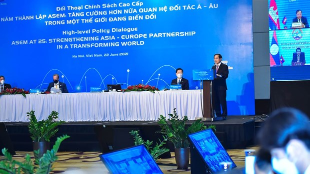 Vietnamese Foreign Minister chairs ASEM High-level Policy Dialogue hinh anh 2