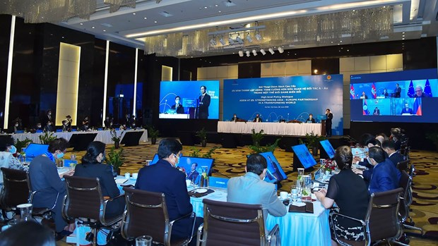 Vietnamese Foreign Minister chairs ASEM High-level Policy Dialogue hinh anh 3
