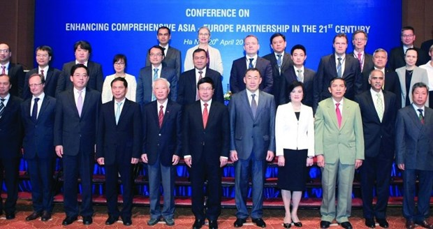 High-level policy dialogue marks 25th anniversary of ASEM hinh anh 1
