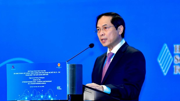 Opening remarks by FM Bui Thanh Son at ASEM high-level policy dialogue hinh anh 2