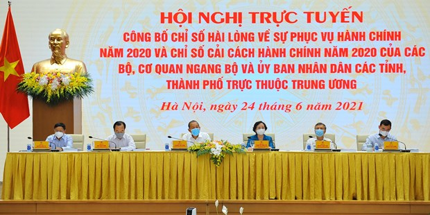 Central bank, Quang Ninh continue to top 2020 administrative reform index hinh anh 2