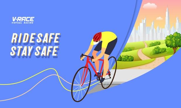 First-ever virtual cycling race held on V-race platform hinh anh 1