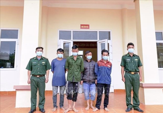 Four arrested for illegal border crossing hinh anh 1