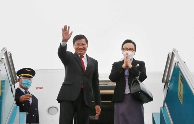 Lao Party leader wraps up Vietnam visit hinh anh 1