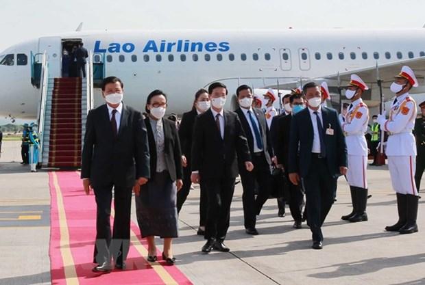 Lao press hails Lao top leader's Vietnam visit hinh anh 1