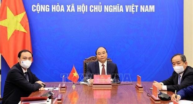 State leader works with Korea-Vietnam Friendship Association President hinh anh 1