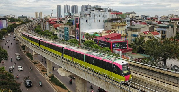 Hanoi urban metro line's elevated section commissioned hinh anh 1