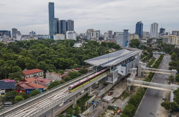 Hanoi urban metro line's elevated section commissioned hinh anh 2