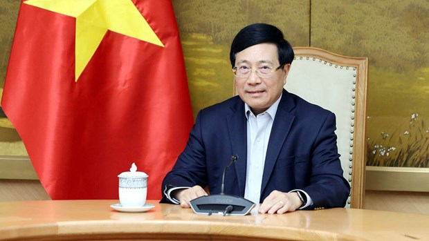 Deputy PM holds phone talks with US National Security Advisor hinh anh 1