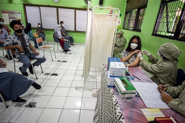 Indonesia imposes partial lockdown in COVID-19 hotspots hinh anh 1