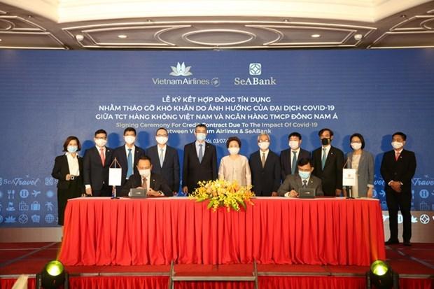 Vietnam Airlines, Seabank ký hợp đồng vay 2 nghìn tỷ-VNT hinh anh 1