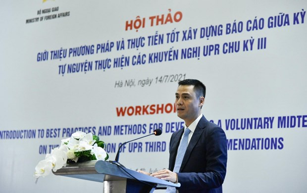Vietnam respects and fully participates in UPR process: Deputy FM hinh anh 1