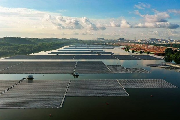 Singapore opens one of world's largest floating solar power farms hinh anh 1