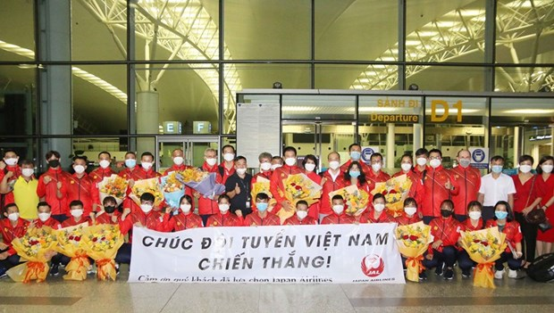 Vietnamese athletes arrive in Japan, ready for Olympics competitions hinh anh 1