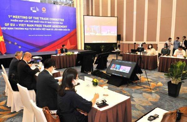 Vietnam, EU review bilateral trade deal implementation hinh anh 1