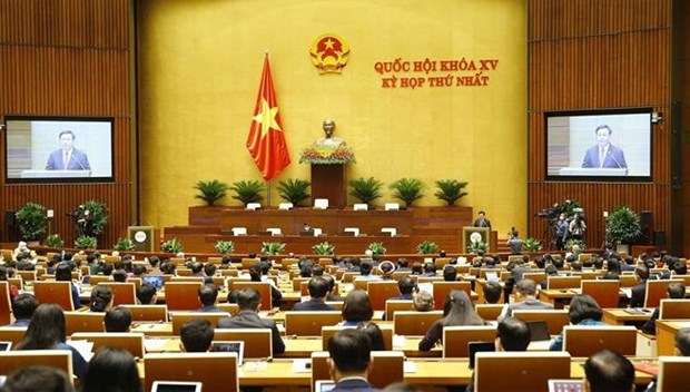 15th National Assembly's first session opens hinh anh 1