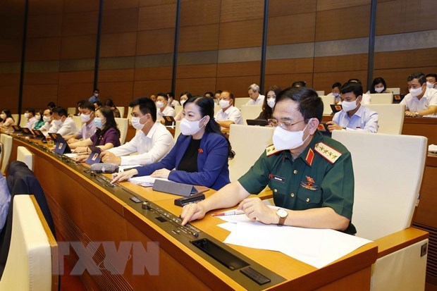 Second working day of 15th National Assembly's first session hinh anh 1