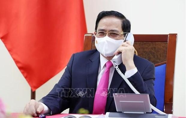 Vietnamese, RoK PMs hold phone talks hinh anh 1