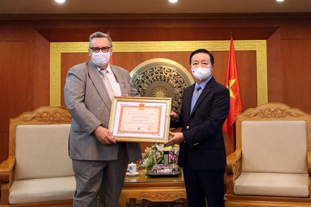 Finnish Ambassador to Vietnam receives