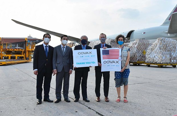 US-donated vaccines delivered to Vietnam hinh anh 1