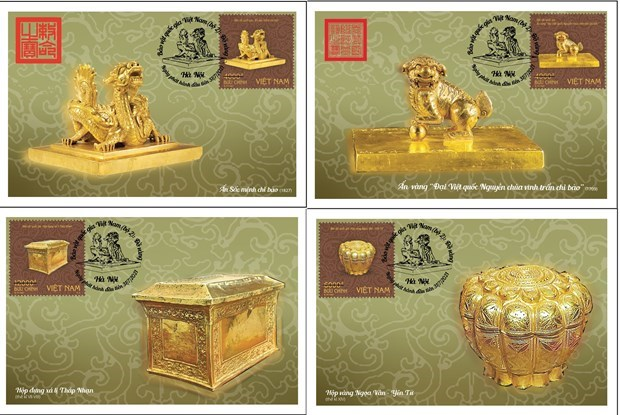 Buddhist symbols, golden seals to feature on new stamp issue hinh anh 1