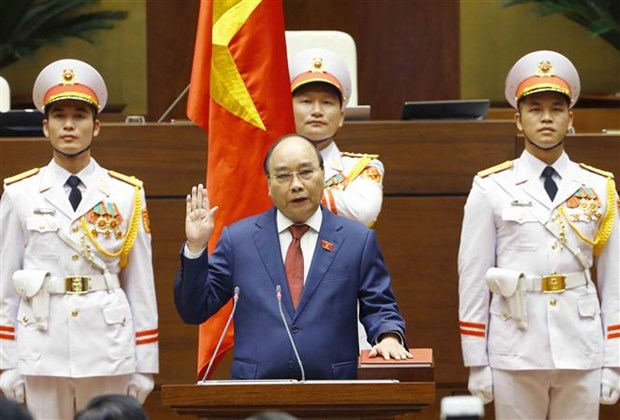 State President Nguyen Xuan Phuc takes oath of office hinh anh 2