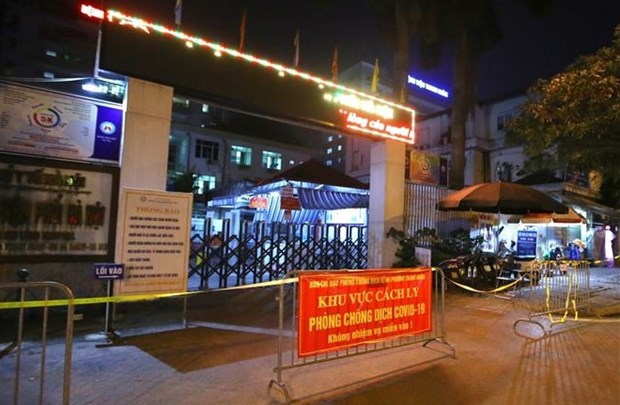 Hanoi Lung Hospital suspends patient admission after nine COVID-19 cases found in hospital hinh anh 1