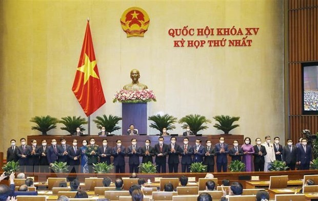 Resolution on appointment of 18 ministers, four cabinet members passed hinh anh 1
