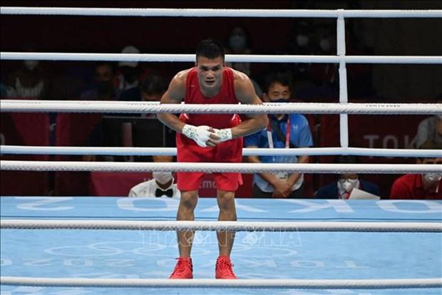 Vietnamese boxer loses to Mongolian rival at Tokyo 2020 Olympics hinh anh 1