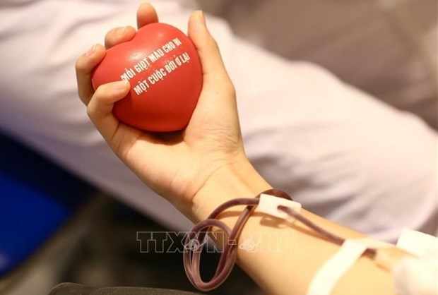 Defence Ministry launches blood donation drive hinh anh 1