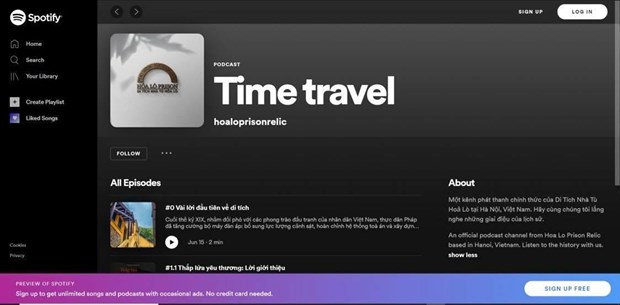 Hoa Lo Prison Spotify channel debuts hinh anh 1