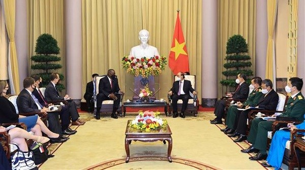 Vietnam regards US as leading partner in foreign policy: President hinh anh 1