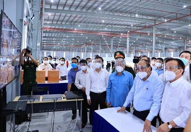 President visits pandemic-hit Binh Duong province hinh anh 1
