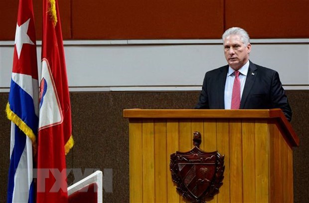 Cuban leader thanks Vietnam, int'l friends for support hinh anh 1