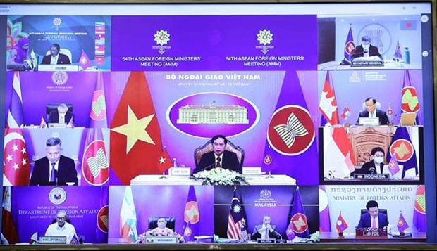 Vietnam attends 54th ASEAN Foreign Ministers' Meeting hinh anh 1