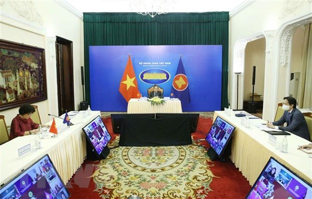 Dialogue between ASEAN Foreign Ministers, AICHR held virtually hinh anh 1