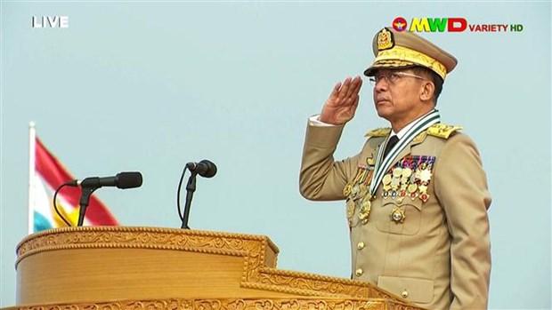 Myanmar sets up caretaker government hinh anh 1
