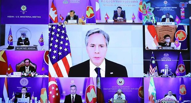 ASEAN, US agree to continue prioritising COVID-19 response, support for sustainable recovery hinh anh 1