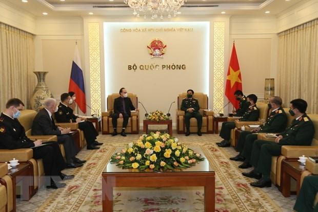 Defence Minister hosts Russian ambassador hinh anh 1