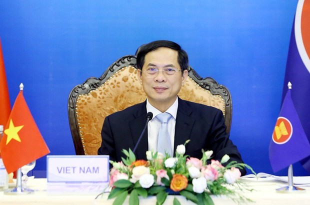 EAS FM Meeting stresses stepping up global, regional cooperation in COVID-19 response hinh anh 1