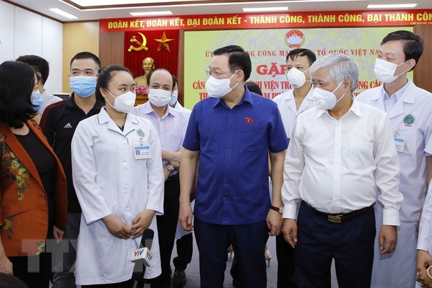 NA Chairman meets medical staff supporting southern localities hinh anh 1
