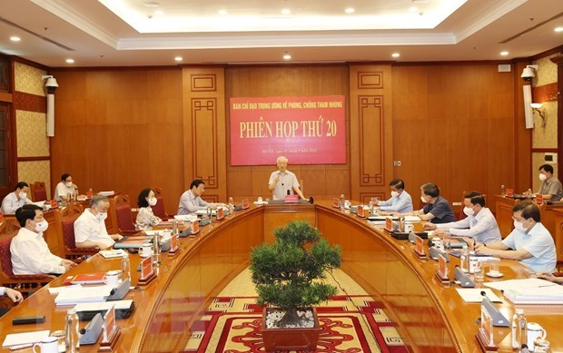 Party leader requests better results in corruption fight hinh anh 1