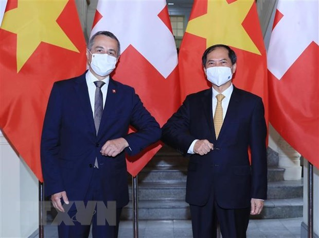 Vietnam hopes to receive more Swiss assistance in COVID-19 vaccine access: FM hinh anh 1