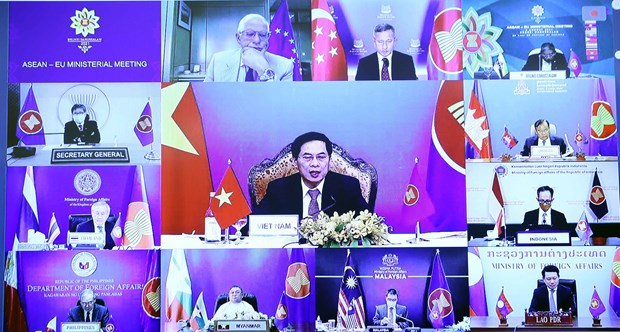Vietnam attends ASEAN-EU Foreign Ministers' Meeting hinh anh 1
