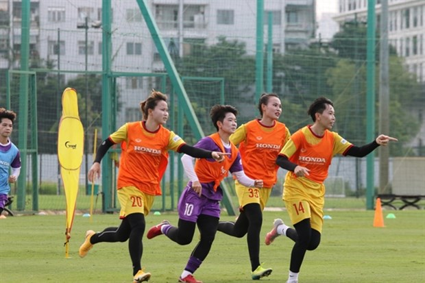 Women's team works hard for World Cup dream hinh anh 1