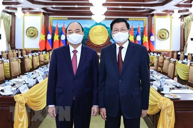 President Nguyen Xuan Phuc concludes Laos visit hinh anh 2