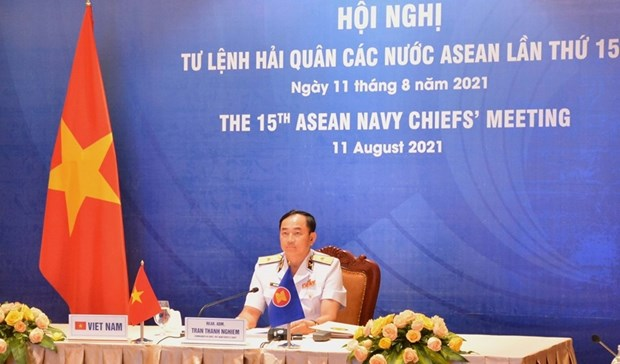Vietnam attends 15th ASEAN Navy Chiefs' Meeting hinh anh 1