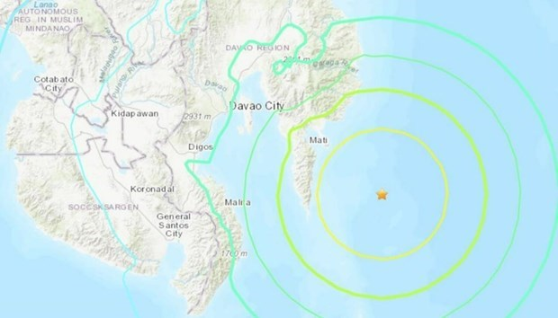 Strong earthquake hits Philippines hinh anh 1